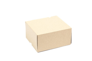 Brown paper box.