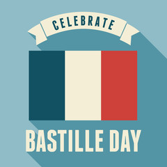 Bastille Day Card Design