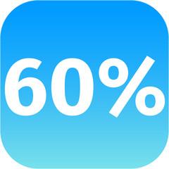 60 percent icon