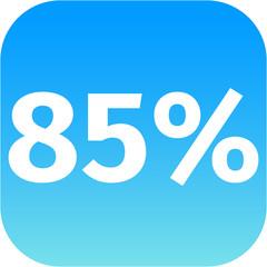 85 percent icon
