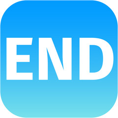 text end blue and white icon