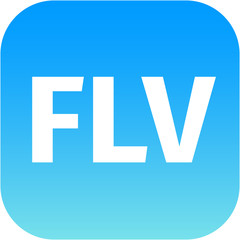 blue flv icon