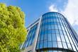 canvas print picture - moderne Bürogebäude in Deutschland,  Büros und Bäume
