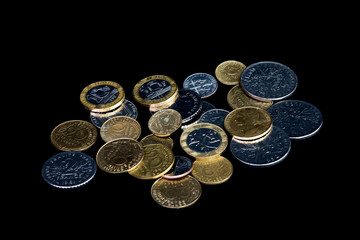 French coins (French Francs)-black