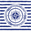 Nautical emblem with compass