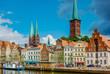 canvas print picture - Lübeck - Obertrave