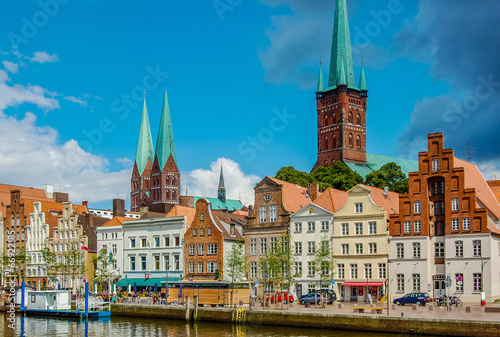 canvas print picture Lübeck - Obertrave