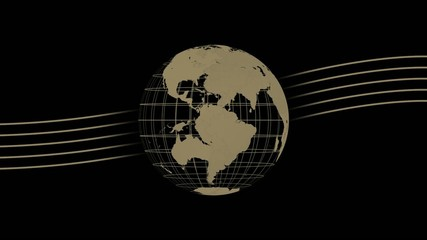 world globe animation - studio background