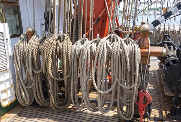 rigging on a ship