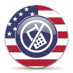 no phone american icon