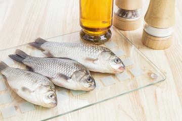 Fresh fish for menu.