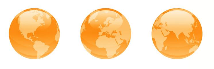 orange shiny globes