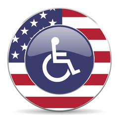 wheelchair american icon