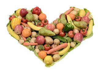 Obst Gemüse Herz
