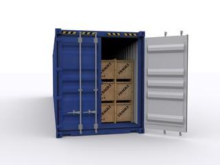 Beladener Container