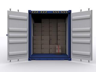 Geöffneter Container