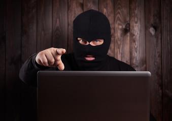 Hacker in a balaclava