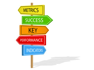 METRICS & PERFORMANCE & KPI Street signs (key indicator)