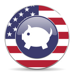 piggy bank american icon