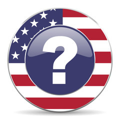 question mark american icon