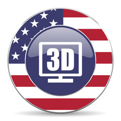 3d display american icon