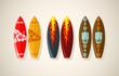 Vector illustration of surf boards
