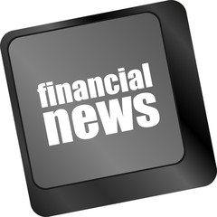 financial news button on computer keyboard