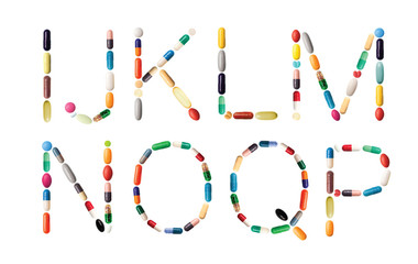 Alphabet with pills