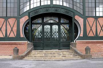 Jugenstil-Eingang zur Maschinenhalle der Zeche Zollern