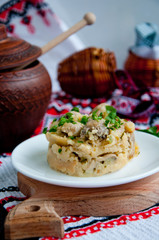 polenta with mushrooms