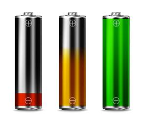 Low batt - Charging - full batt