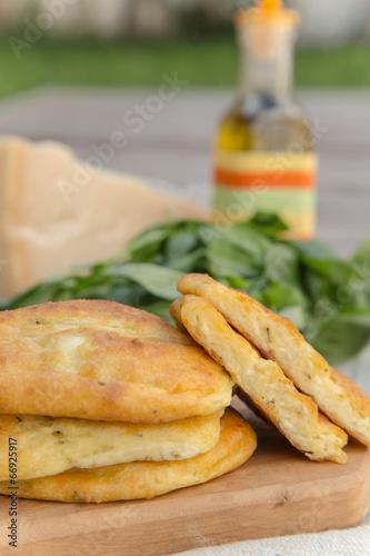 Salty cottage cheese pancake
