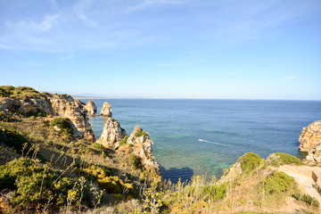Ponta da Piedade Cliffs and coastline, Lagos Algarve Portugal