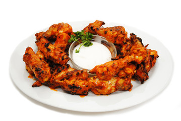 Hot and Spicy Buffalo Wings with Dipping Sauce
