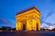Leinwanddruck Bild - Arc of Triomphe Paris