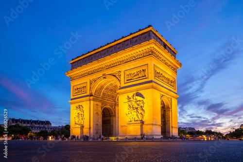 Leinwanddruck Bild Arc of Triomphe Paris