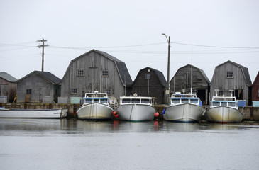 Fishing Boats in a Row