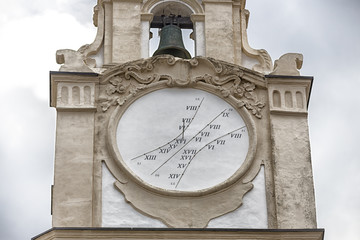sundial on the clock tower