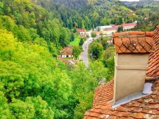 Landscape, castle bran Transylvania