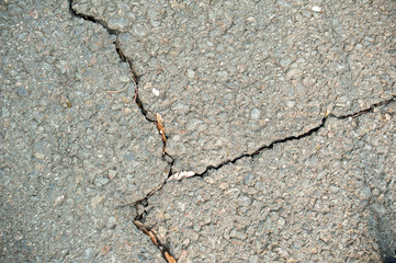 Sidewalk with cracks
