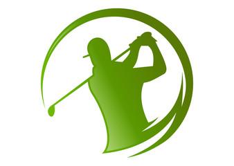 Golf Logo, sport health silhouette