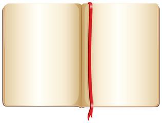 A topview of an empty notebook