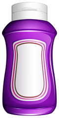 A purple generic bottle