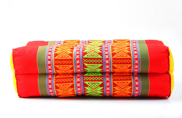 Tradition native Thai style rectangle pillow isolated