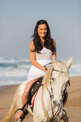 beautiful woman on the horse