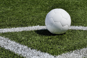 Soccer ball on a soccer field