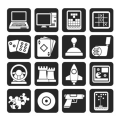 Silhouette Computer Games tools and Icons