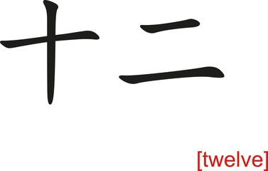 Chinese Sign for twelve