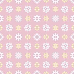 Nice vector seamless pattern (tiling). Sweet pink, white