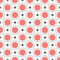 Geometric pattern (tiling). Vector seamless abstract vintage